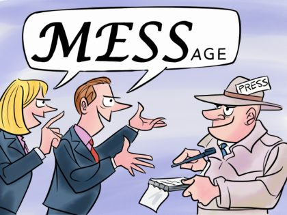 On Message Cartoon 17 March